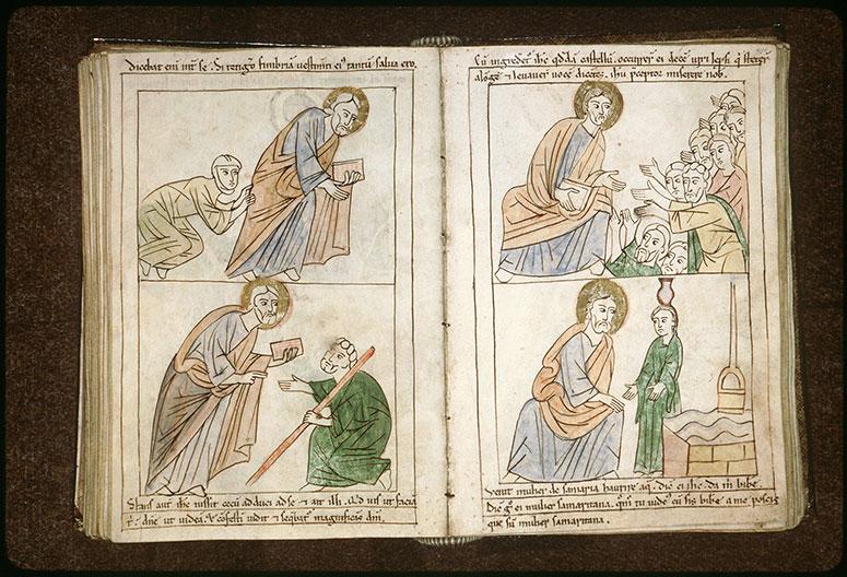 Bible en images - Guérison des dix lépreux_0