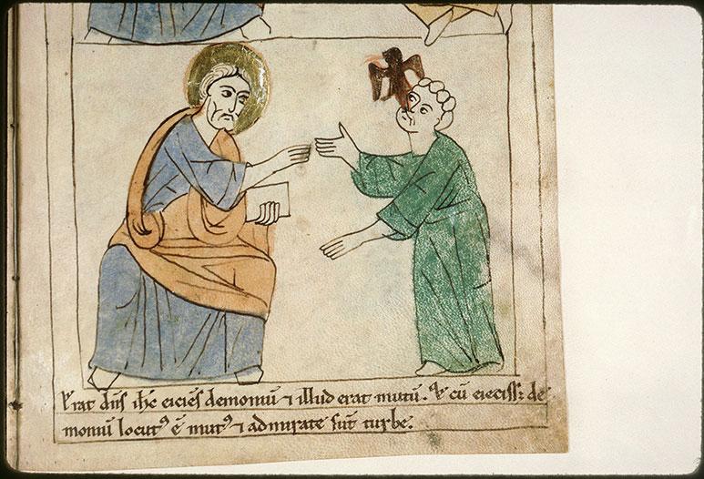 Bible en images - Guérison d'un muet démoniaque_0