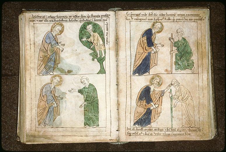 Bible en images - Jésus et saint Pierre marchant sur les eaux (à préciser)_0