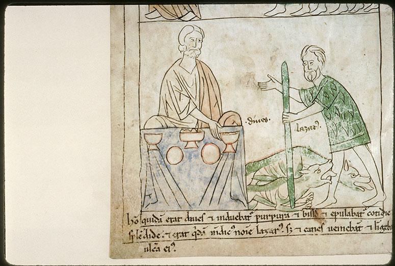Bible en images - Lazare et le repas du mauvais riche_0
