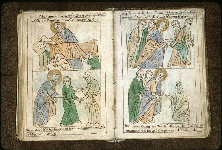 Bible en images - Marthe parlant à Jésus de Lazare_0