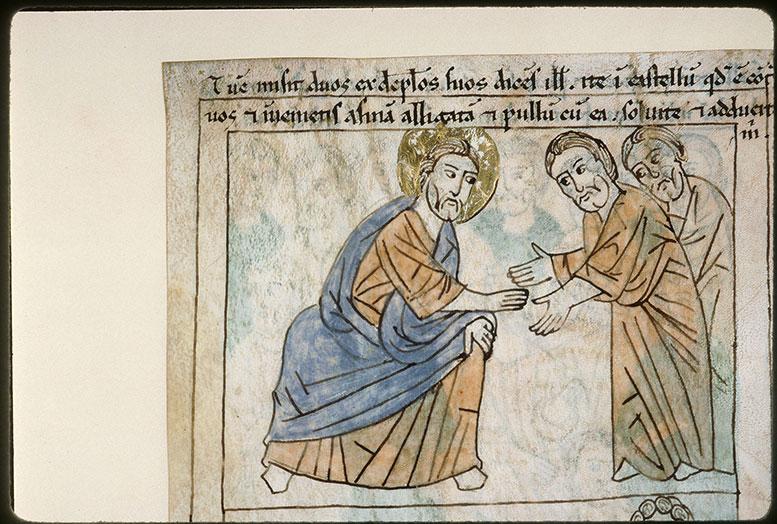 Bible en images - Jésus envoyant deux disciples chercher une ânesse_0