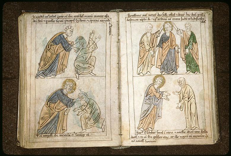 Bible en images - Jésus entre les deux faux témoins_0