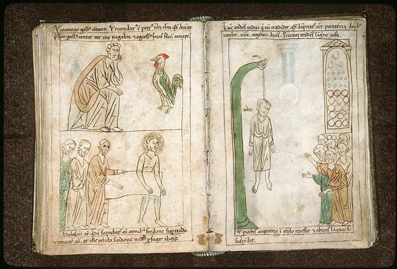 Bible en images - Suicide de Judas après restitution du prix de la trahison_0