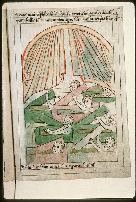 Bible en images - Voile du Temple déchiré et résurrection des corps de saints_0