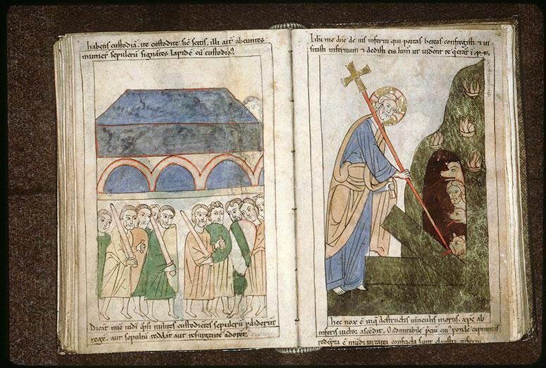 Bible en images - Tombeau du Christ et soldats chargés de sa garde_0