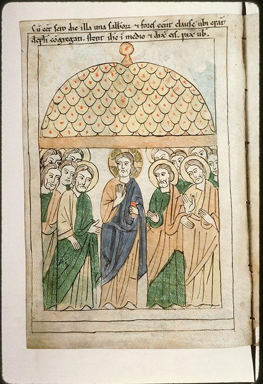 Bible en images - Apparition aux apôtres_0