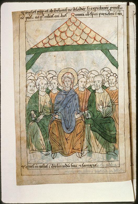Bible en images - Apôtres et la Vierge au Cénacle_0