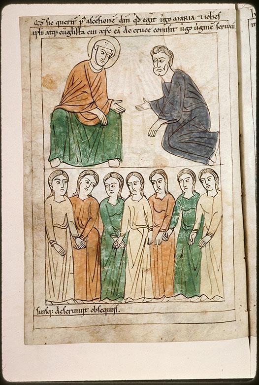 Bible en images - Saint Jean et femmes au service de la Vierge_0