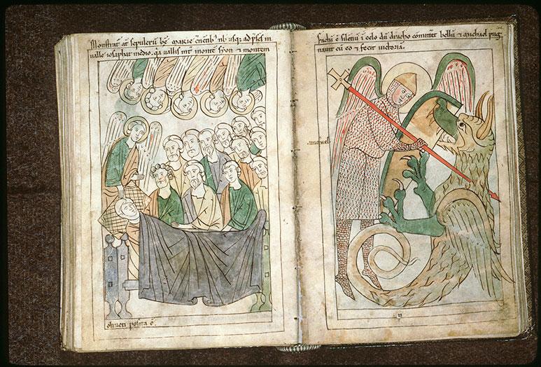 Bible en images - Saint Michel terrassant le dragon_0