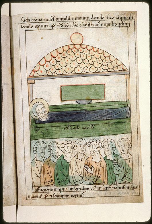 Bible en images - Saint Jean dans sa tombe_0