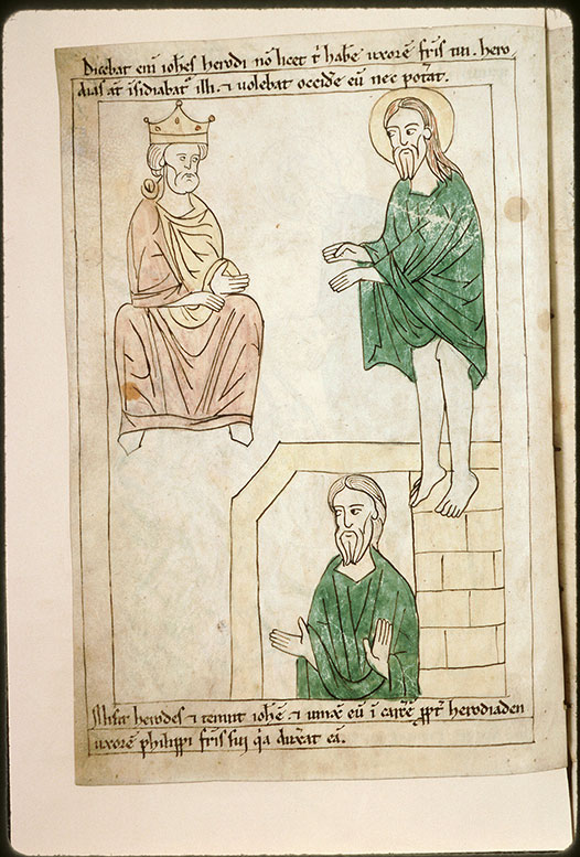 Bible en images - Remontrances de saint Jean-Baptiste à Hérode/Saint Jean-Baptiste en prison_0