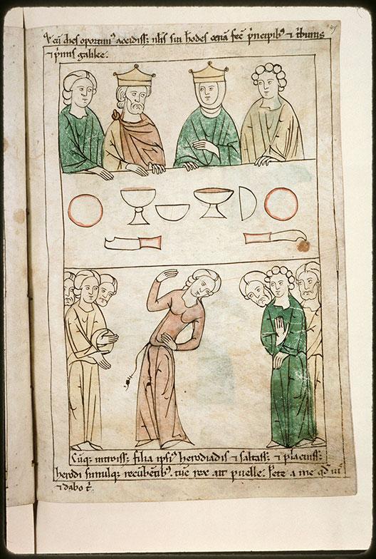 Bible en images - Festin d'Hérode et danse de Salomé_0