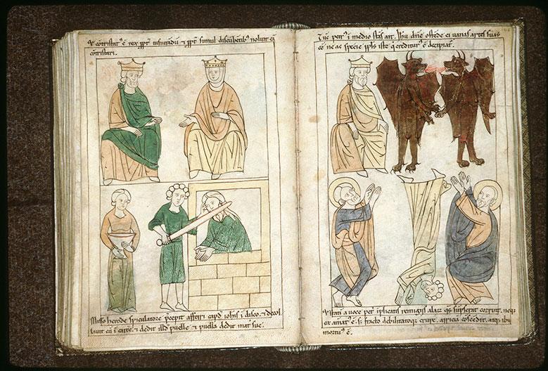 Bible en images - Hérode, Hérodiade et décollation de saint Jean-Baptiste_0