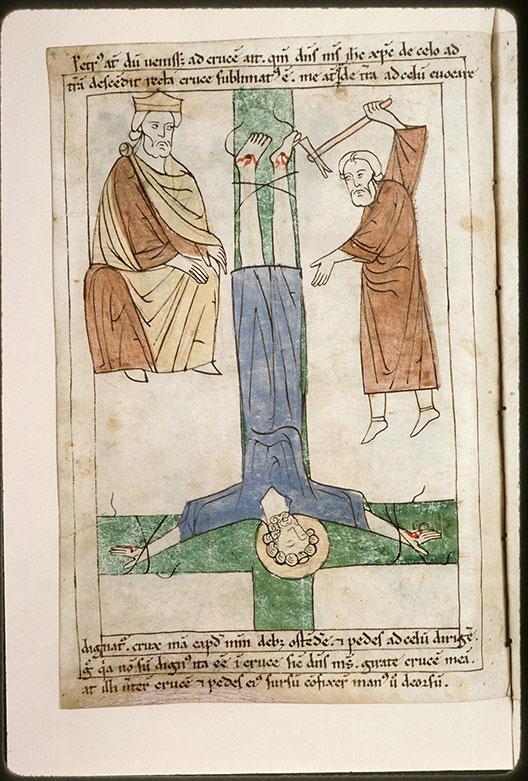 Bible en images - Néron et le crucifiement de saint Pierre_0
