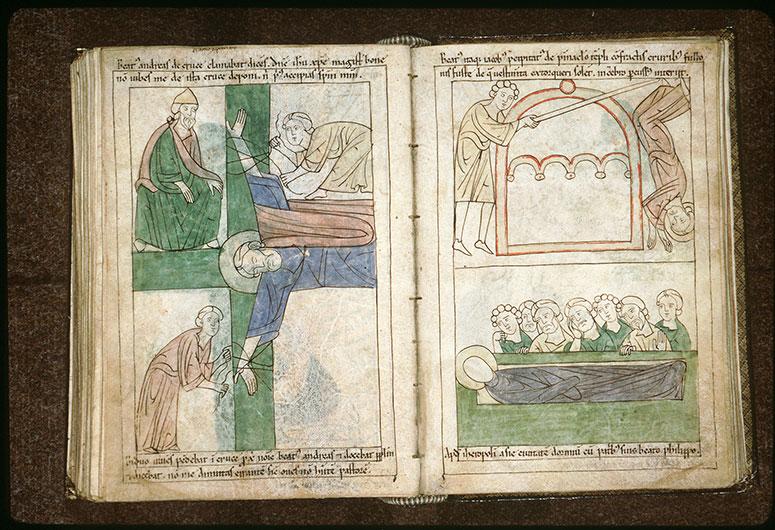 Bible en images - Egée et le crucifiement de saint André_0