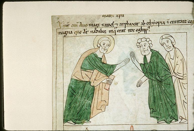 Bible en images - Saint Matthieu et les mages Zaroïs et Arphaxus_0