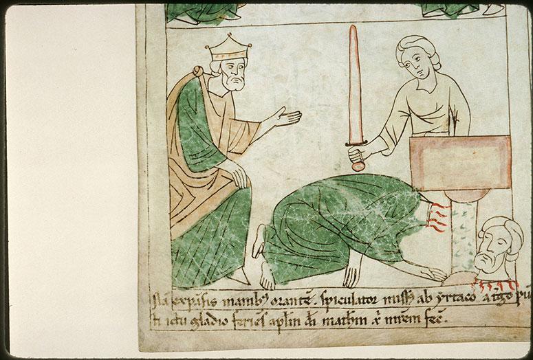 Bible en images - Hirtacus et la décollation de saint Matthieu_0