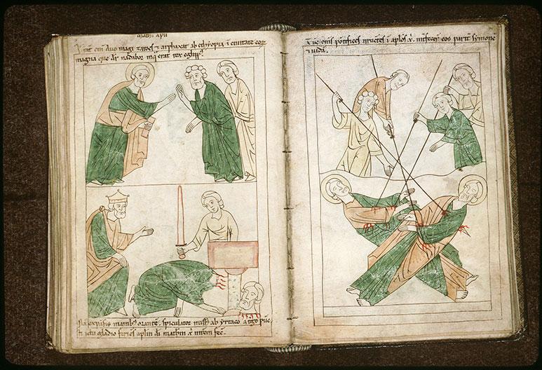 Bible en images - Saint Simon et saint Jude transpercés de lances_0