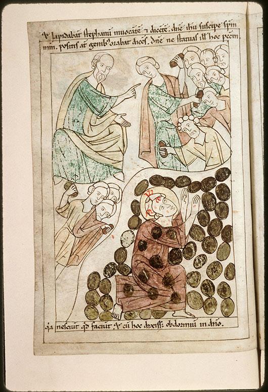 Bible en images - Saint Paul et lapidation de saint Etienne_0