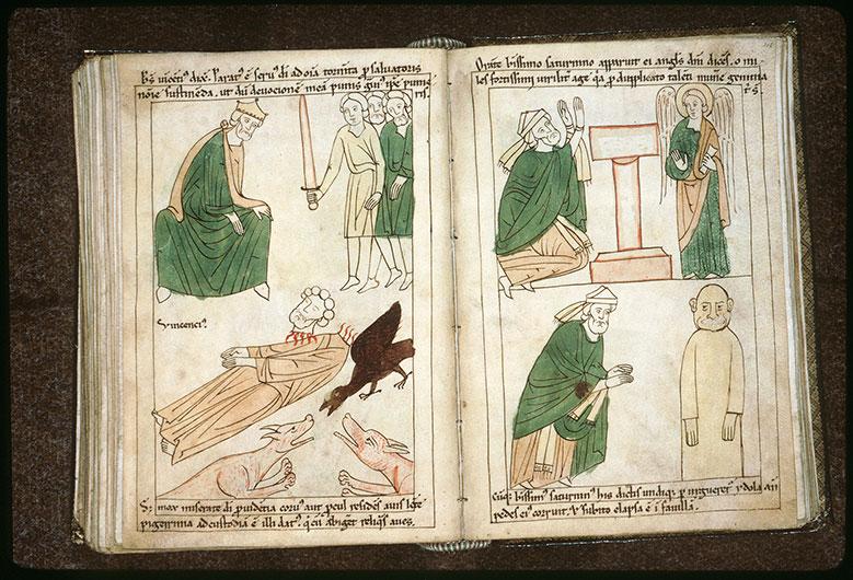Bible en images - Saint Vincent défiant Dacien_0