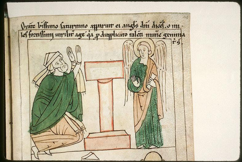 Bible en images - Ange apparaissant à saint Sernin en prière devant un autel_0