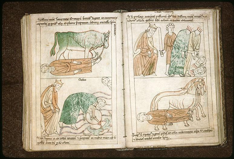 Bible en images - Trajan et saint Clément noyé dans la mer Noire_0