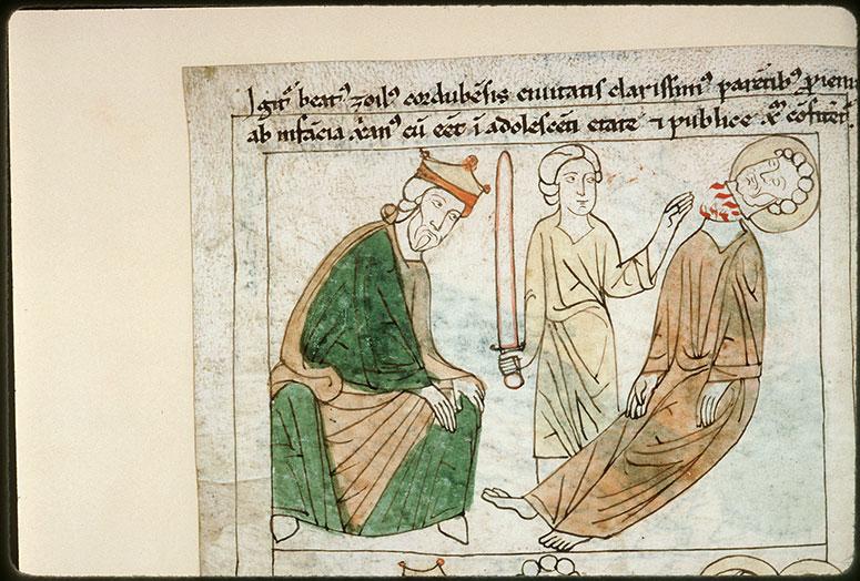 Bible en images - Dacien et la décollation de saint Zoïle de Cordoue_0