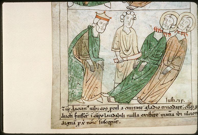 Bible en images - Dacien et la décollation de saint Just et de saint Pasteur_0