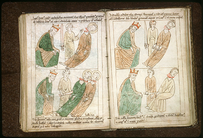 Bible en images - Dioclétien et la décollation de saint Chrysogone_0
