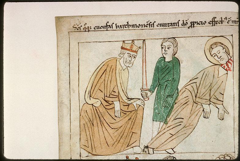 Bible en images - Dioclétien et la décollation de saint Cucufat_0