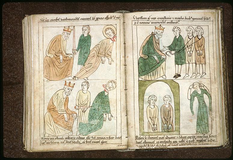 Bible en images - Maximien et la décollation de saint Cyriaque_0