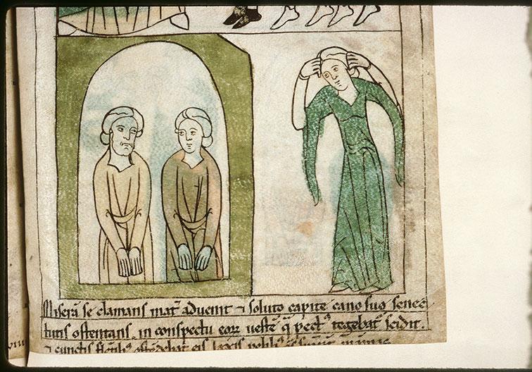 Bible en images - Douleur de Marcie, mère des saints Marc et Marcellien prisonniers_0