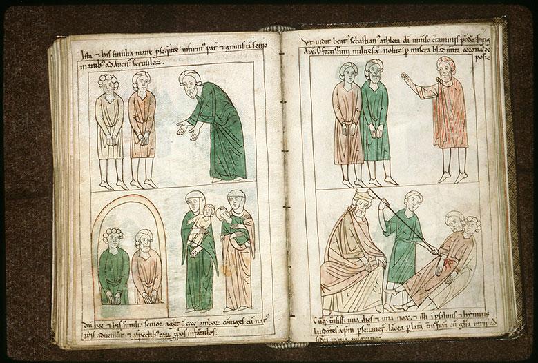Bible en images - Tranquillin suppliant Marc et Marcellien, ses saints fils prisonniers_0