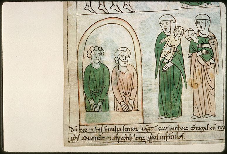 Bible en images - Saints Marc et Marcellien prisonniers, leurs épouses et leurs fils_0