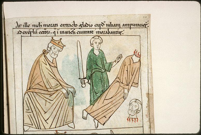 Bible en images - Dioclétien et la décollation de saint Julien de Brioude_0