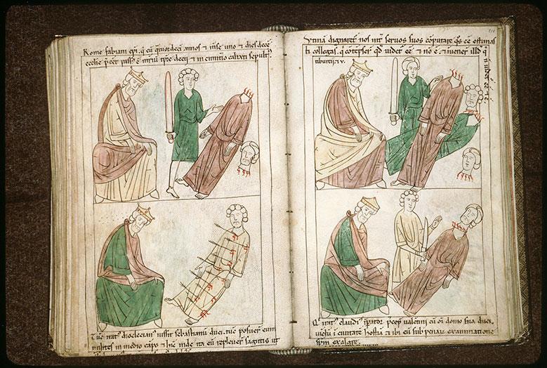 Bible en images - Dioclétien et saint Sébastien martyrisé_0