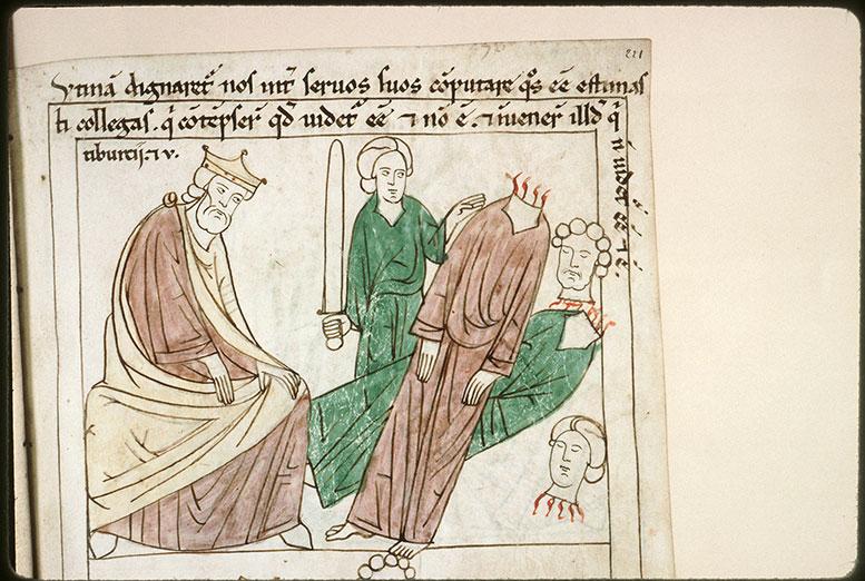 Bible en images - Sévère Alexandre et la décollation des saints Tiburce et Valérien_0