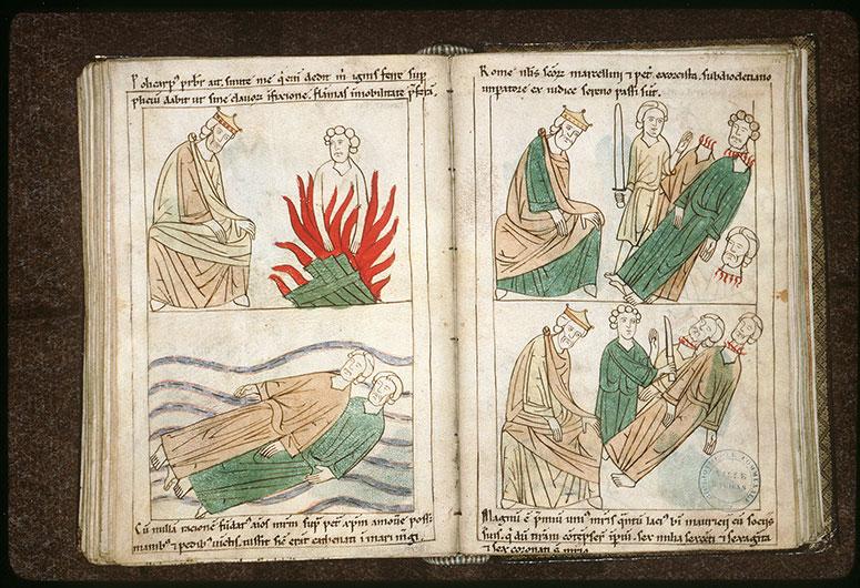Bible en images - Empereur et saint Polycarpe de Smyrne au bûcher_0
