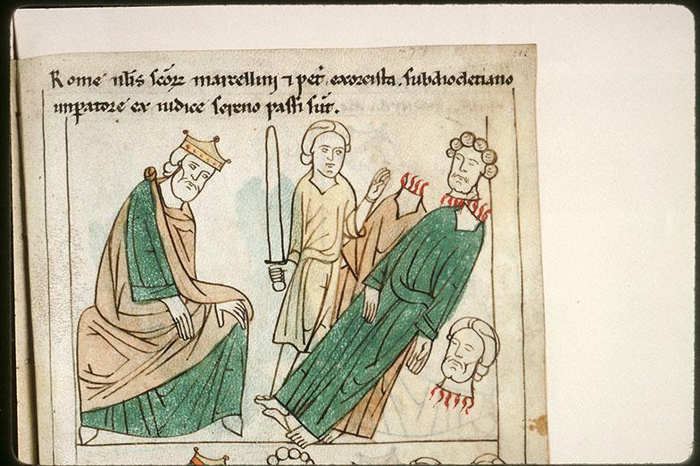 Bible en images - Dioclétien et la décollation des saints Marcellin et Pierre de Rome_0
