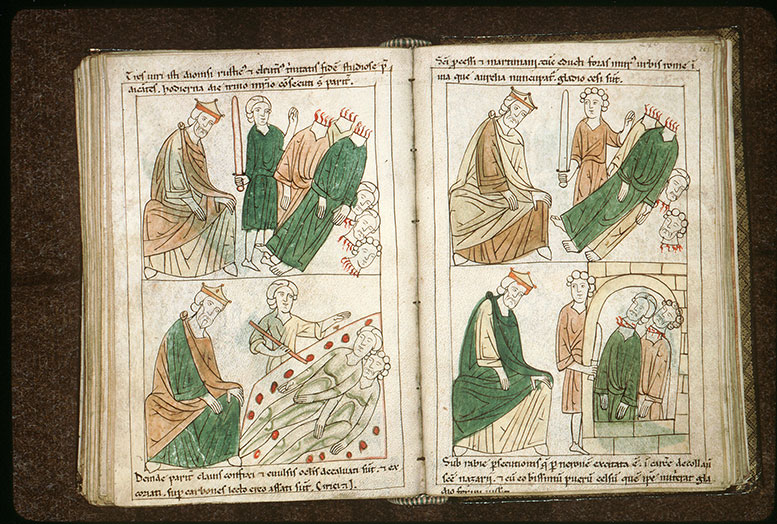 Bible en images - Domitien et la décollation des saints Denis, Rustique et Eleuthère_0