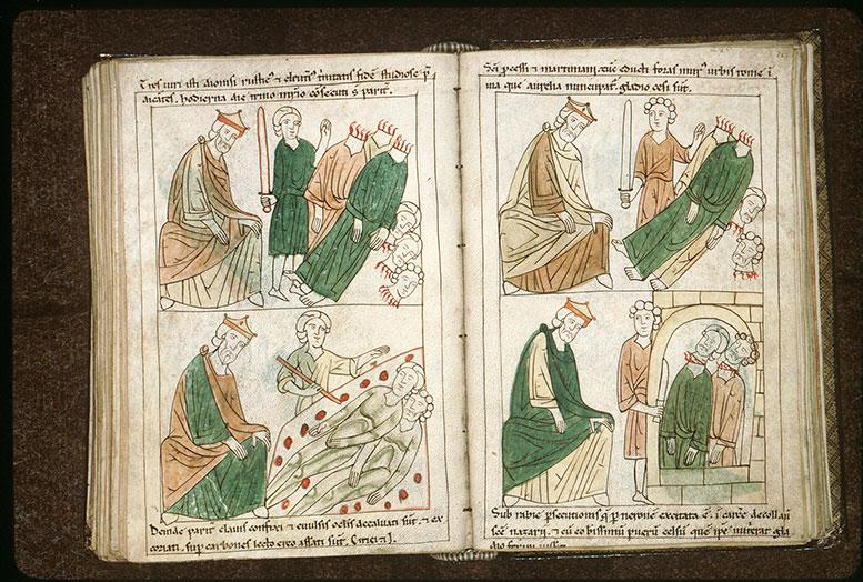 Bible en images - Néron et la décollation de saint Processe et de saint Martinien_0