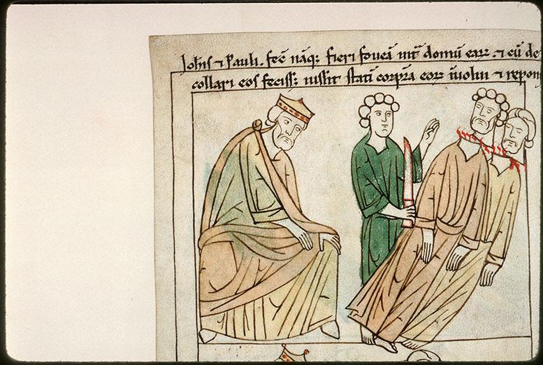 Bible en images - Julien l'Apostat et la décollation des saints Jean et Paul de Rome_0