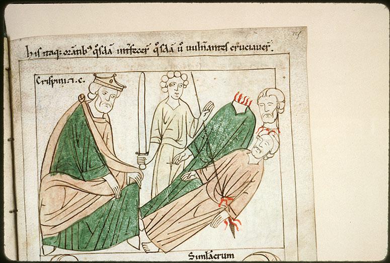 Bible en images - Maximien et le martyre de saint Crépin et de saint Crépinien_0