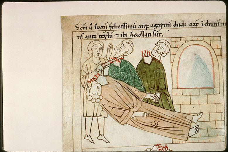 Bible en images - Décollation de saint Sixte II, de saint Félicissime et de saint Agapit_0