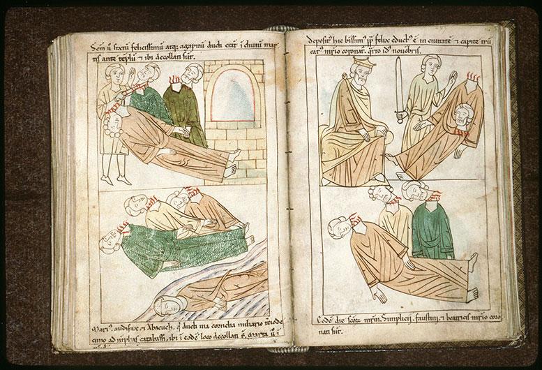 Bible en images - Martyre des saints Marius, Marthe, Audifax et Abacuc_0