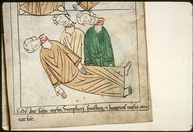 Bible en images - Saint Simplice, saint Faustin et sainte Béatrice décapités_0