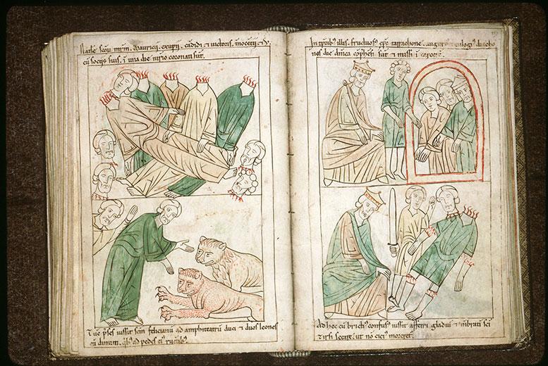 Bible en images - Gallien et les saints Fructueux, Augure et Euloge en prison_0