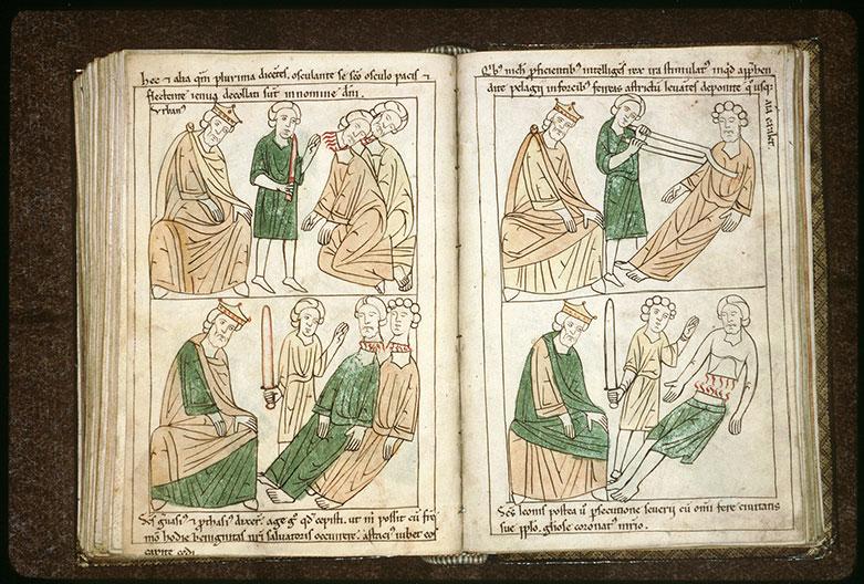 Bible en images - Abd al-Rahman III et le martyre de saint Pélage de Cordoue_0