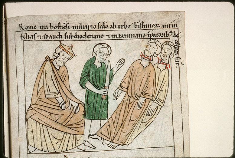 Bible en images - Empereur et décollation de saint Félix et de saint Adaucte_0